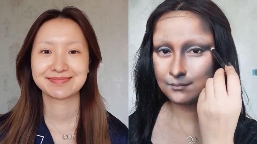 Vlogueira se transformando em Mona Lisa com maquiagem - YouTube