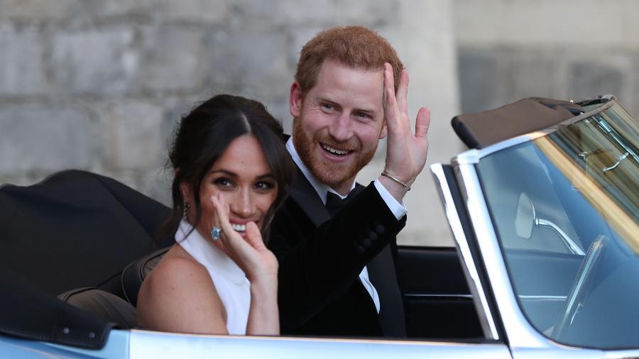 Harry e Meghan partem para a sua segunda festa - Getty Images