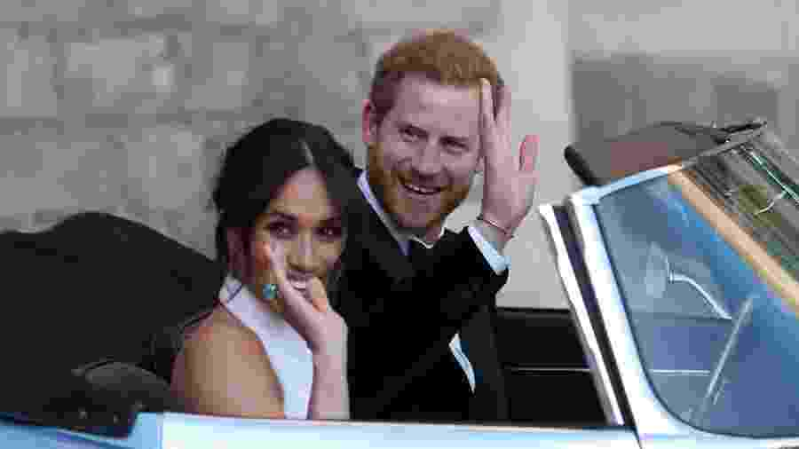 Harry e Meghan partem para a sua segunda festa - Getty Images