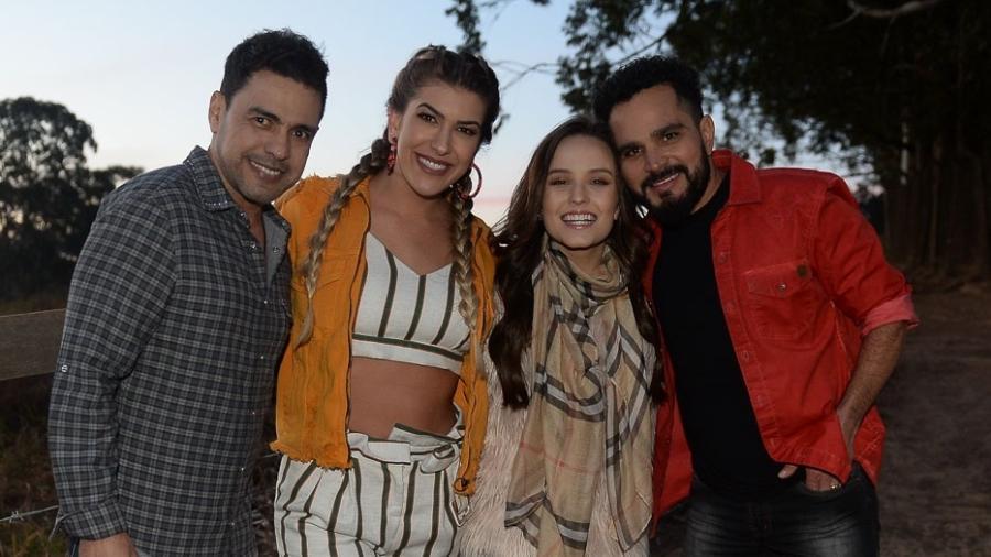 Zezé Di Camargo & Luciano grava clipe com Larissa Manoela e Lorena Improta - Francisco Cepeda/AGNews