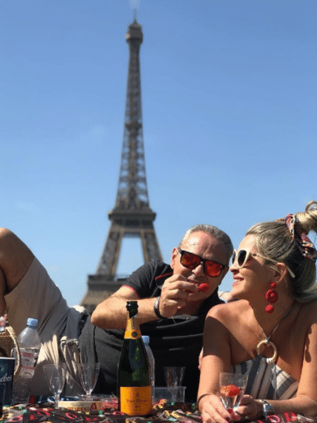 Luis Roberto e Jacy Santos curtem férias em Paris - Reprodução/Instagram