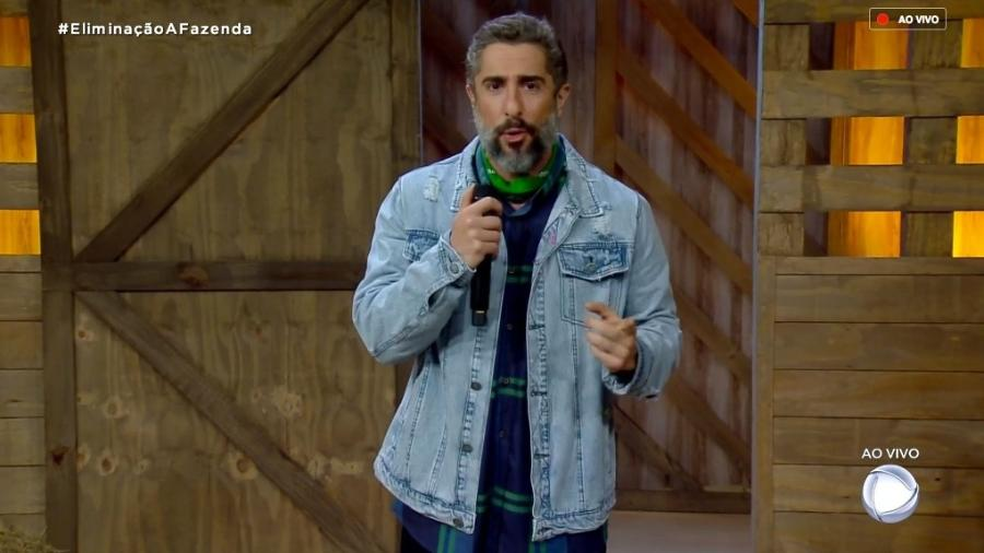 """Marcos Mion fala com o público de """"A Fazenda 10"""" - Reprodução/RecordTV"""