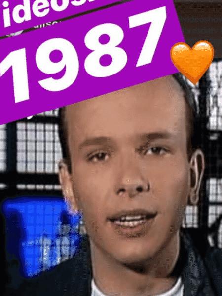 """Marcelo Tas no """"Vídeo Show"""" em 1987 - Reprodução/Twitter"""