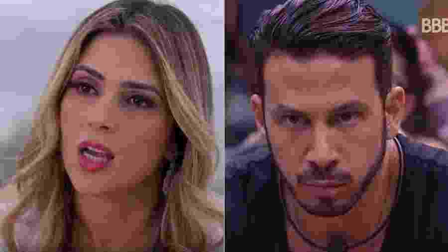 """Nadja não gostou da participação do médico Gustavo no """"BBB19"""" - Reprodução/Record e TV Globo"""