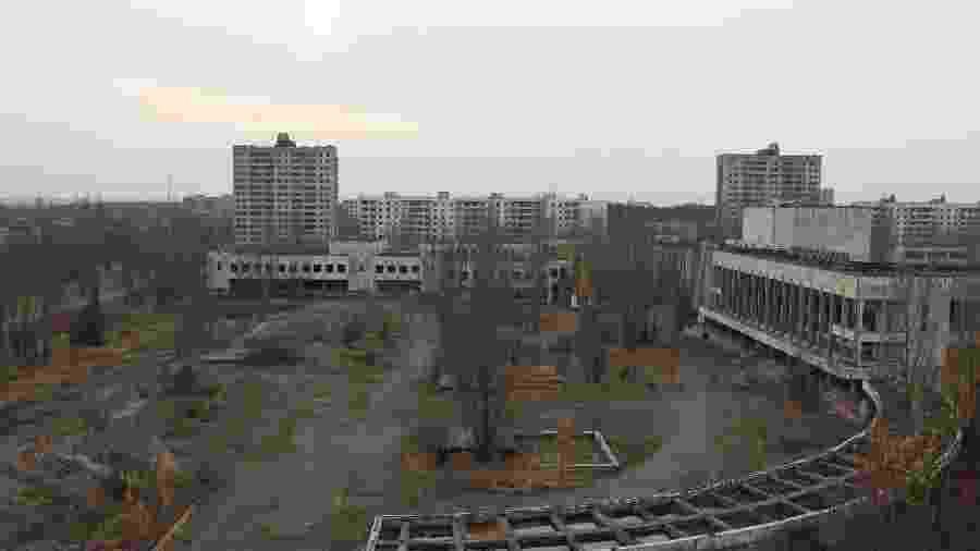 Imagem área de Chernobyl - Arício Filho/Arquivo Pessoal