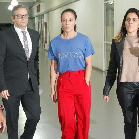 Paolla Oliveira chega a DP no Rio - Marcos Ferreira/Brazil News