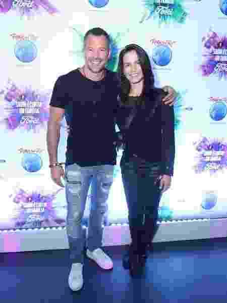 Malvino Salvador e Kyra Gracie, no Rock in Rio - Daniel Pinheiro/AgNews