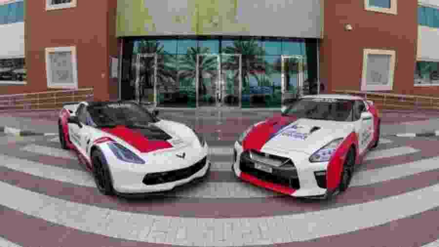 Nissan GT-R e Corvette C7 como ambulâncias em Dubai  - Divulgação