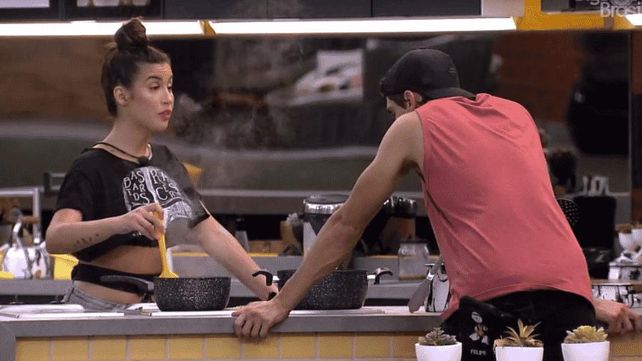 Bianca se irrita com Felipe - Reprodução/Globoplay
