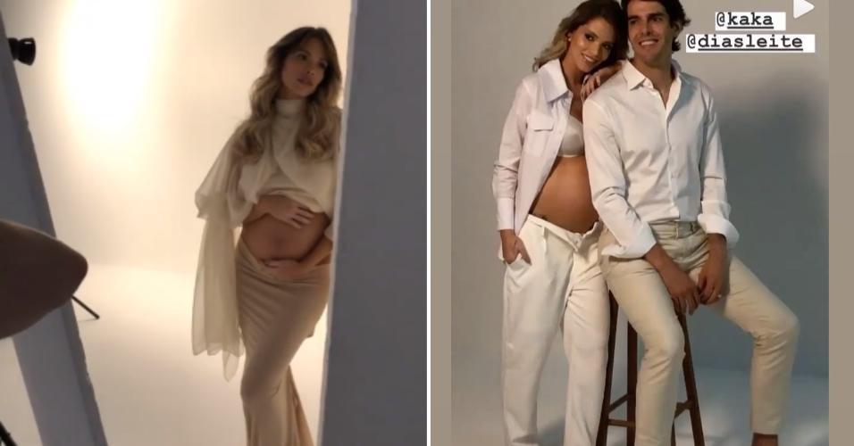 Carol Dias e Kaká: grávidos