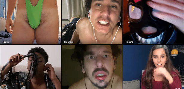 Fabio Porchat appears à la Borat in 'suruba online' of Porta dos Fundos