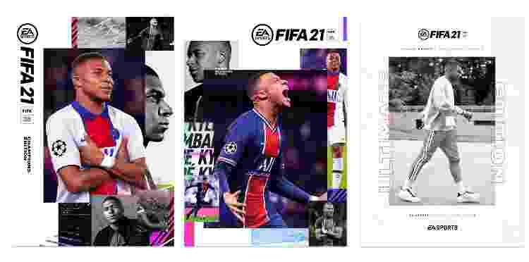 Capas FIFA 21 - Divulgação - Divulgação