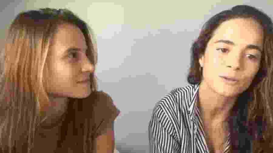 Bianca Comparato participou de live com Alice Braga - Reprodução/Twitter