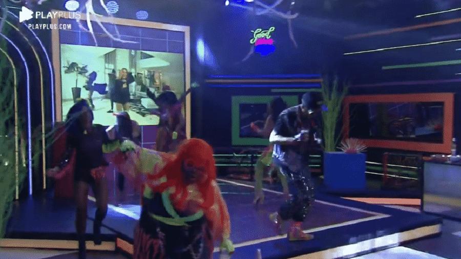 """A Fazenda 2020: Joelma foi atração especial da festa """"Neon"""" - Reprodução/PlayPlus"""