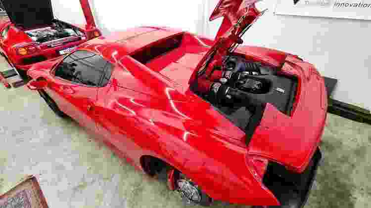 Ferrari 458 Spider Caio Castro Fernando Mutant na oficina - Arquivo pessoal - Arquivo pessoal