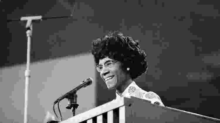 Shirley Chisholm, a primeira mulher a concorrer a presidência dos Estados Unidos pelo Partido Democrata - Getty Images - Getty Images