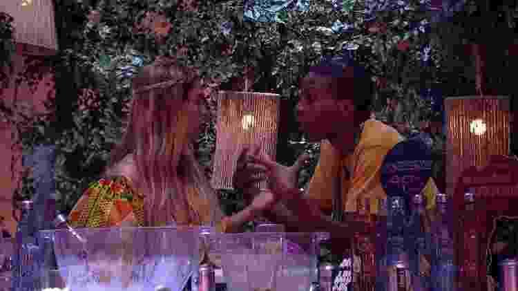 Kerline se desentende com Lucas no 'BBB 21' - Reprodução/Globoplay - Reprodução/Globoplay