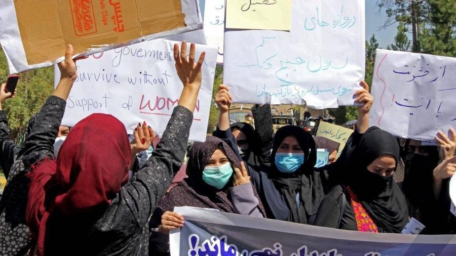 Mulheres afegãs estão proibidas de praticar qualquer esporte - AFP