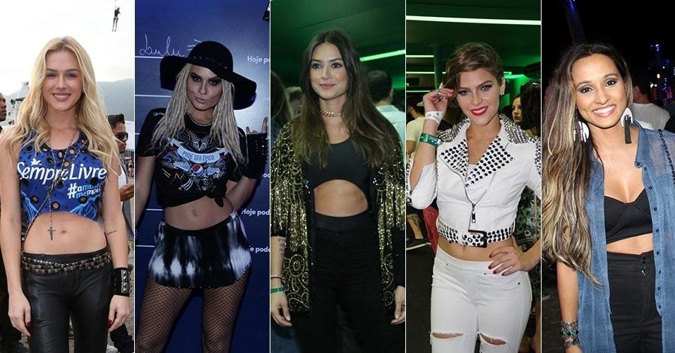 26.set.2015 - Famosas usam barriga de fora para ir ao Rock in Rio