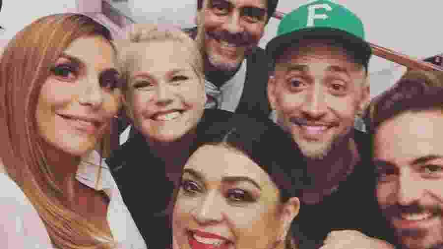 Ivete Sangalo, Xuxa, Junno Andrade, Preta Gil, Paulo Gustavo e Thales Brêtas foram juntos ao cinema - Reprodução/Instagram/ivetesangalo