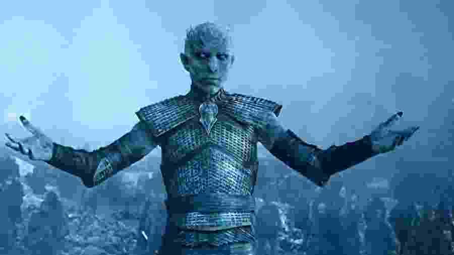 O Rei da Noite comanda seu exército de White Walkers em cena da quinta temporada de Game of Thrones - Divulgação/HBO