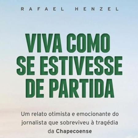 """Capa do livro """"Viva Como se Estivesse de Partida"""", Rafale Henzel - Divulgação"""