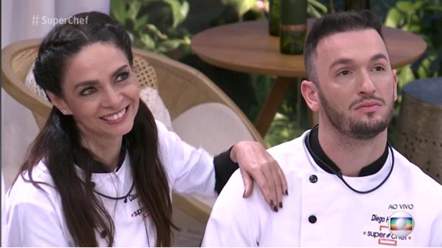 """Claudia Ohana e Diego Hypolito no """"Mais Você"""" - Reprodução/Globo"""
