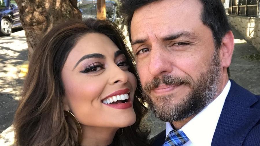 """Juliana Paes e Rodrigo Lombardi nos bastidores de """"A Força do Querer"""" - Reprodução/Instagram"""