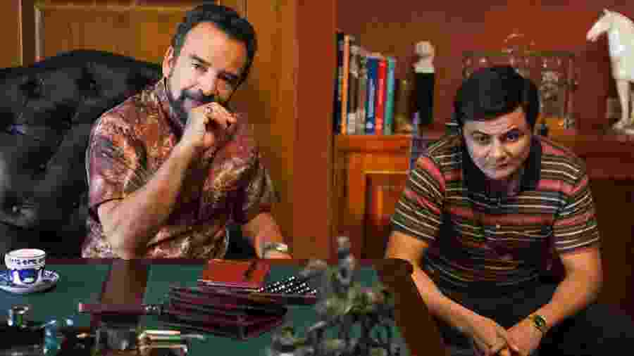 """Gilberto (Damián Alcázar) e David (Arturo Castro) em cena da terceira temporada de """"Narcos"""" - Divulgação"""