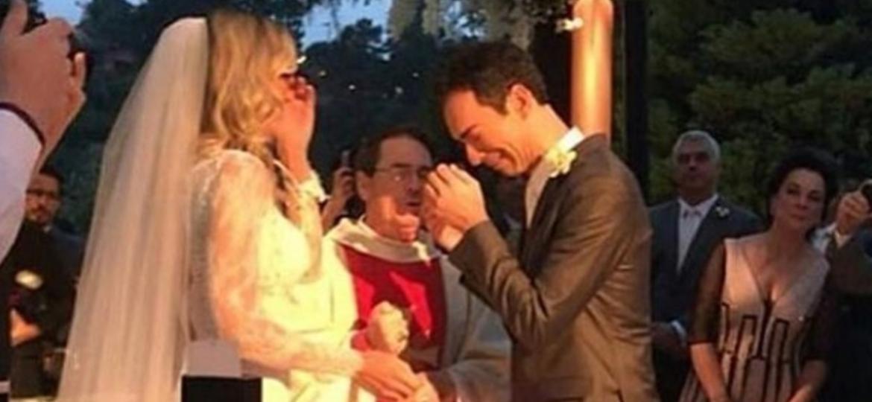 César Tralli se emociona ao receber Ticiane Pinheiro no altar - Reprodução/Instagram/ticianizou
