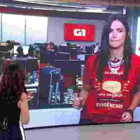 "Mari Palma tenta rebolar no ""Encontro"" - Reprodução/TV Globo - Reprodução/TV Globo"