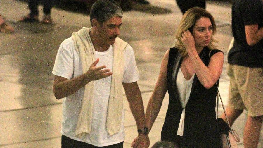 William Bonner com a mulher, Natasha Dantas - Thiago Martins/AgNews