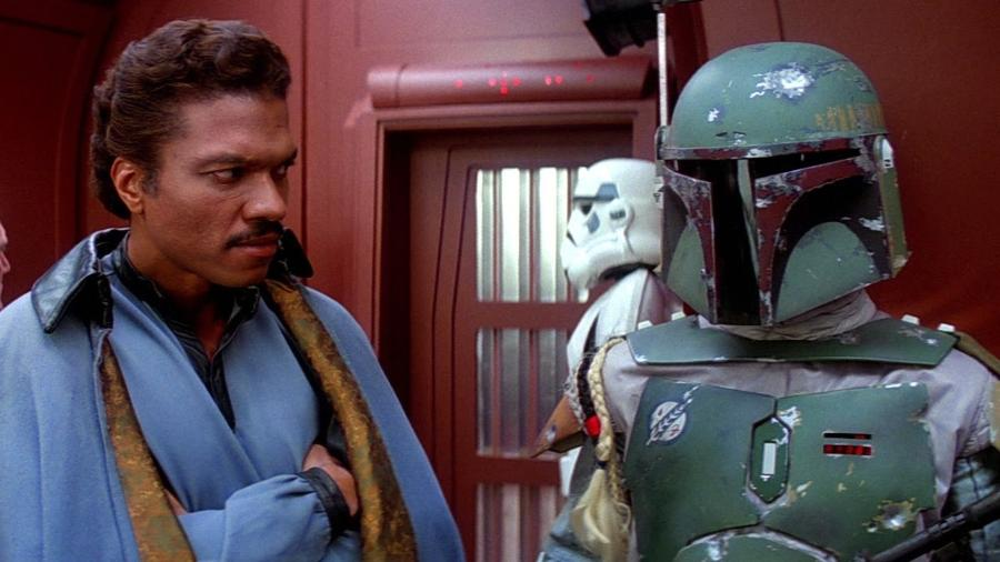 """Lando Calrissian e Boba Fett, da saga """"Star Wars"""" - Reproduição/YouTube-"""