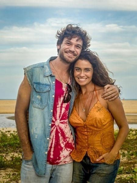 """Luzia (Giovanna Antonelli) e Beto (Emilio Dantas) em """"Segundo Sol"""" - João Cotta/Globo"""