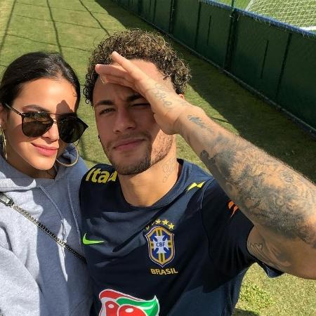 Neymar, Bruna Marquezine e David Brazil na Granja Comary - Reprodução/Instagram