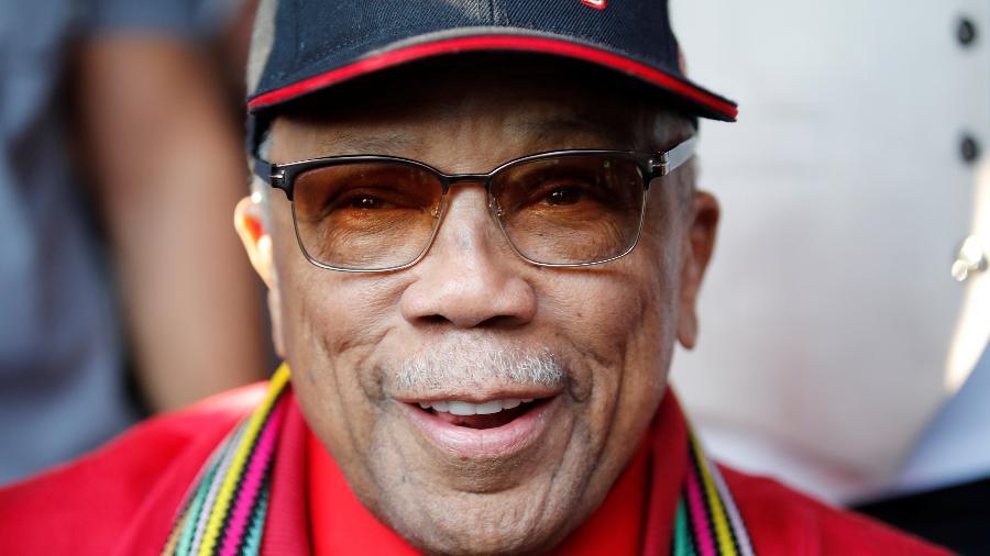 O consagrado produtor Quincy Jones é homenageado no Festival de Jazz de Montreux - REUTERS/Denis Balibouse