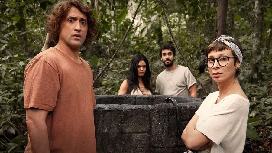 """Paulo Gustavo e Katiúscia Canoro estão na série """"Além da Ilha"""", disponível no Globoplay - Reprodução"""