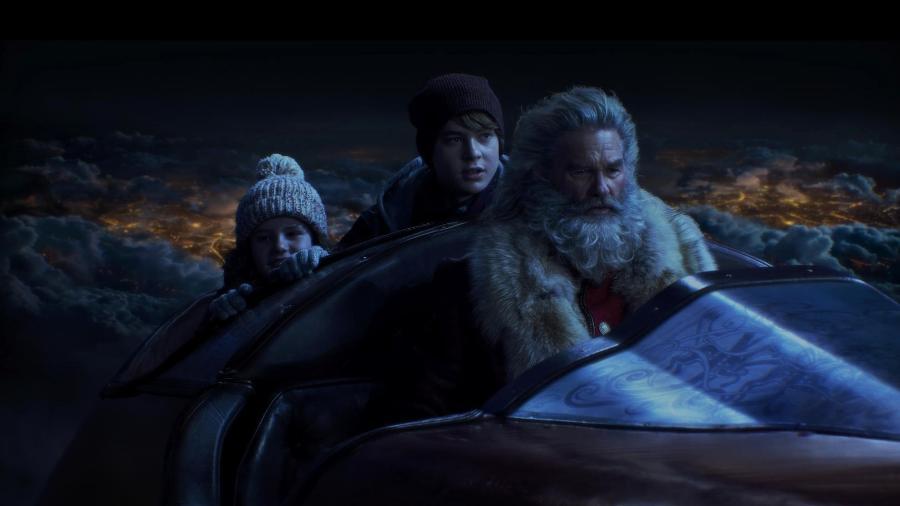 """Kurt Russell como Papai Noel no filme """"Crônicas de Natal"""" - Michael Gibson/Netflix"""