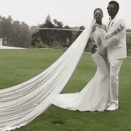 Beyoncé e Jay Z na cerimônia de renovação de seus votos de casamento - Reprodução/Instagram