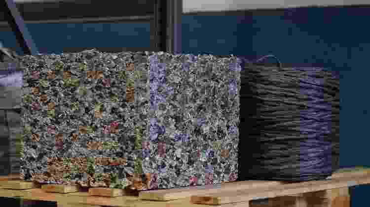 Depois de separado, o alumínio é prensado e segue para empresa que reutiliza o material - Angela Nunes