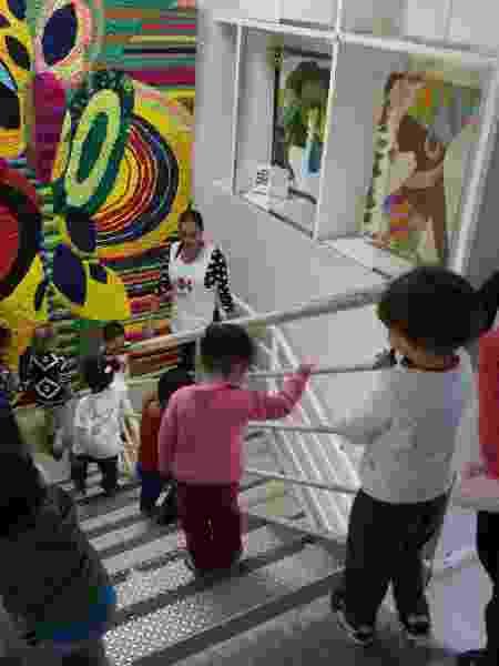 Crianças da educação infantil do Projeto Arrastão  - Leo Martins/UOL