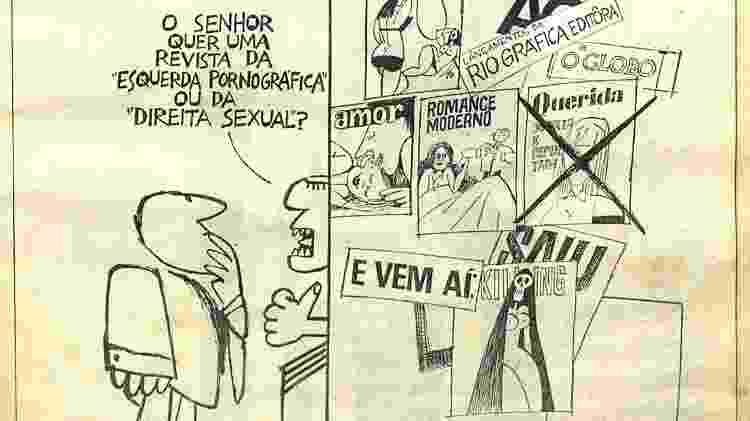 """Detalhe de ilustração publicada em """"O Pasquim""""  - Divulgação - Divulgação"""