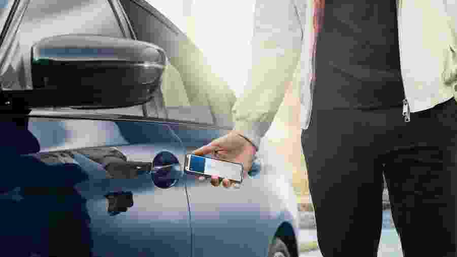 iPhone Digital Key em parceria com BMW - Divulgação