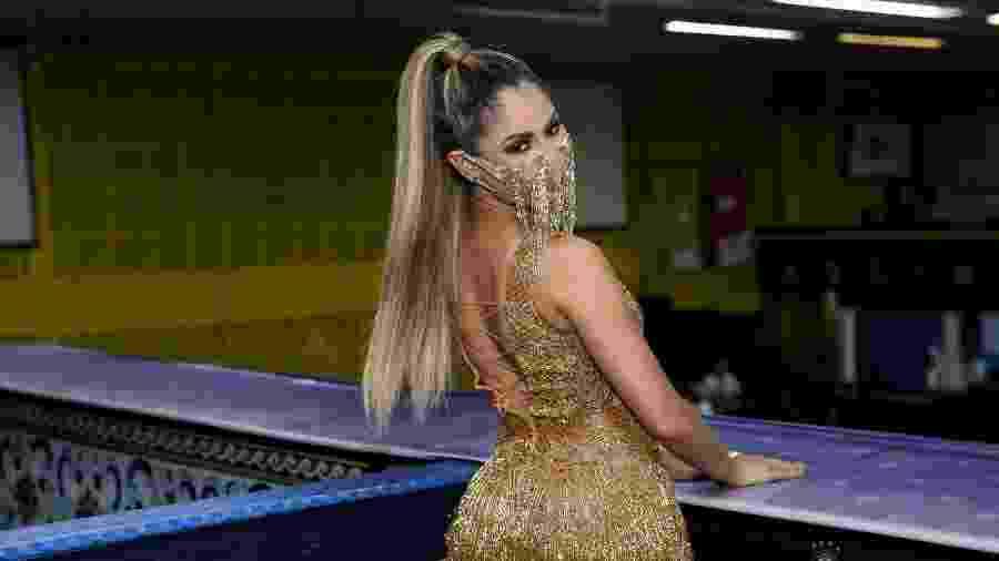 Lexa vai a feijoada na quadra da Unidos da Tijuca, no Rio - Roberto Filho/Brazil News
