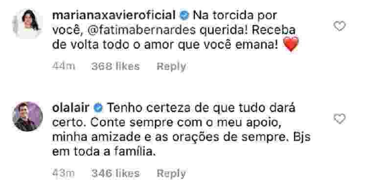 Fátima Bernardes está com câncer; Famosos comentam (1) - Reprodução/Instagram - Reprodução/Instagram