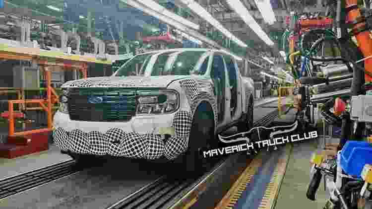 Flagra Ford Maverick - Reprodução - Reprodução