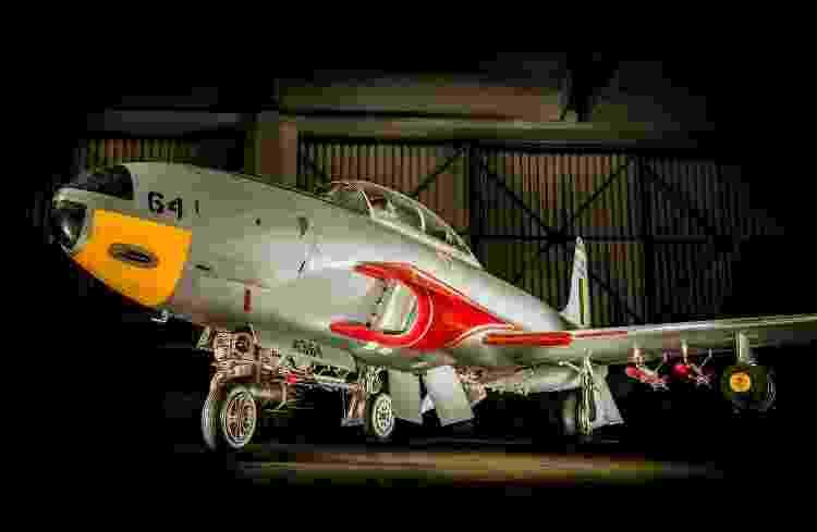 Avião de treinamento T-33, em exposição no Musal - Sargento Johnson/Força Aérea Brasileira - Sargento Johnson/Força Aérea Brasileira