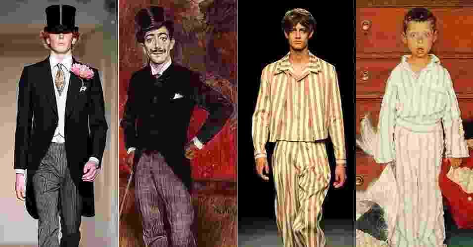 Nada se cria, tudo se copia? Nem tanto. As obras de arte sempre podem se tornar referência para estéticas de todos os tipos, principalmente nas passarelas da moda. A dupla responsável pelo tumblr Art-Lexa Chung mostraram como produções apresentadas na semana de moda de Londres, que aconteceu na última semana, podem remeter a pinturas de Salvador Dalí ou Boldini. Confira alguns exemplos a seguir - Getty Images/Reprodução