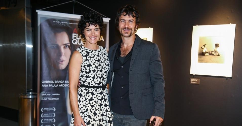 27.out.2015 - Ana Paula Arósio e Gabriel Braga Nunes vivem os protagonistas Clara e Elias no filme
