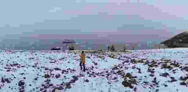 Vista de alto de monte em Eskimobugt - Rafael Mosna/UOL